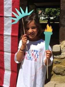 Seren Samy, as Lady Liberty, July 4, 2016
